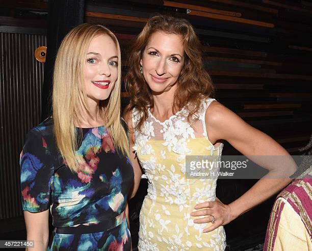 Actress Heather Graham and Alysia Reiner attend the Creative Coalition's spotlight awards dinner gala at Marquee on October 14 2014 in New York City