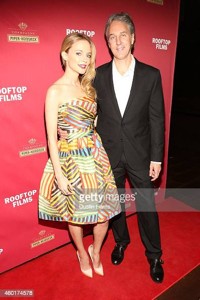Actress Heather Graham and Writer/Director Angus MacLachlan attend the 'Goodbye To All That' New York Screening at Highline Ballroom on December 8...