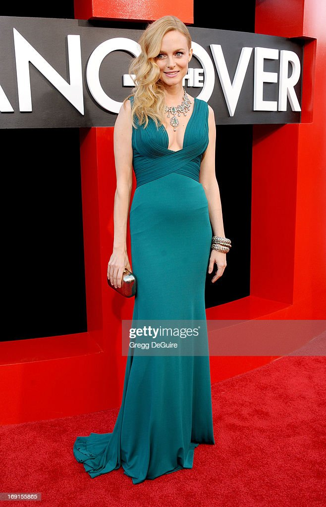 Actress Heather Graham arrives at the Los Angeles premiere of 'The Hangover III' at Mann's Village Theatre on May 20, 2013 in Westwood, California.