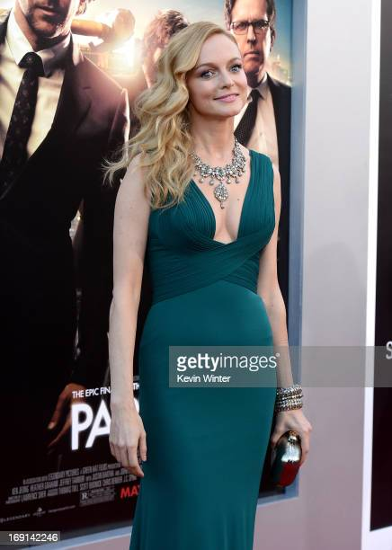Actress Heather Graham arrives at the premiere of Warner Bros Pictures' 'Hangover Part 3' on May 20 2013 in Westwood California