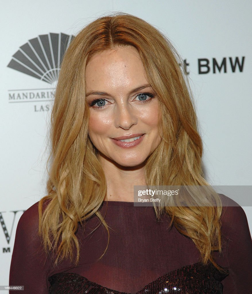 Actress Heather Graham arrives at Vegas Magazine's 10th anniversary celebration at Mandarin Oriental, Las Vegas at CityCenter on May 9, 2013 in Las Vegas, Nevada.