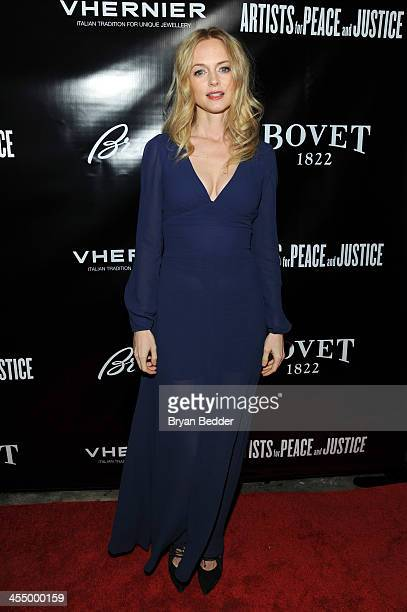 Actress Heather Graham attends Artists for Peace and Justice NYC Holiday Benefit Presented by Bovet 1822 at UpDown on December 10 2013 in New York...