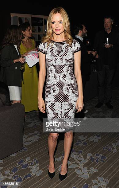 Actress Heather Graham attends Conrad Hotels Resorts hosts the Tribeca Film Festival Awards Ceremony at Conrad New York on April 24 2014 in New York...