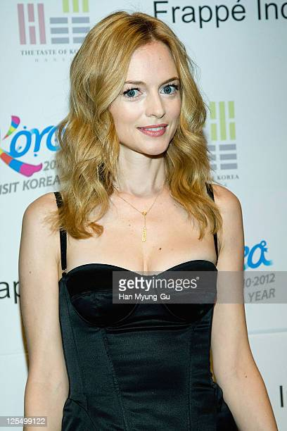Actress Heather Graham attends press conference for PBS food and tourism series 'Kimchi Chronicles' at the Lotte Hotel on December 3 2010 in Seoul...
