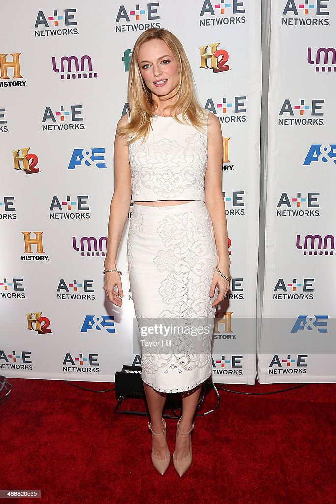 Actress <a gi-track='captionPersonalityLinkClicked' href=/galleries/search?phrase=Heather+Graham+-+Actress&family=editorial&specificpeople=204520 ng-click='$event.stopPropagation()'>Heather Graham</a> attends the 2014 A+E Networks Upfronts at Park Avenue Armory on May 8, 2014 in New York City.