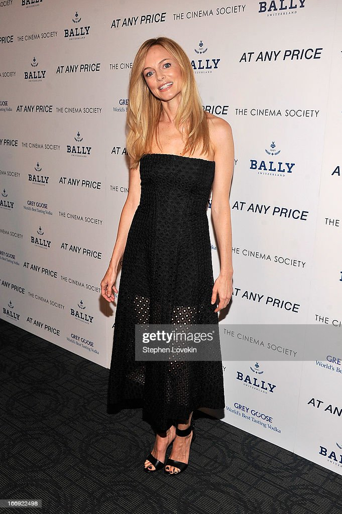 Actress Heather Graham attends the Cinema Society & Bally screening of Sony Pictures Classics' 'At Any Price' at Landmark Sunshine Cinema on April 18, 2013 in New York City.