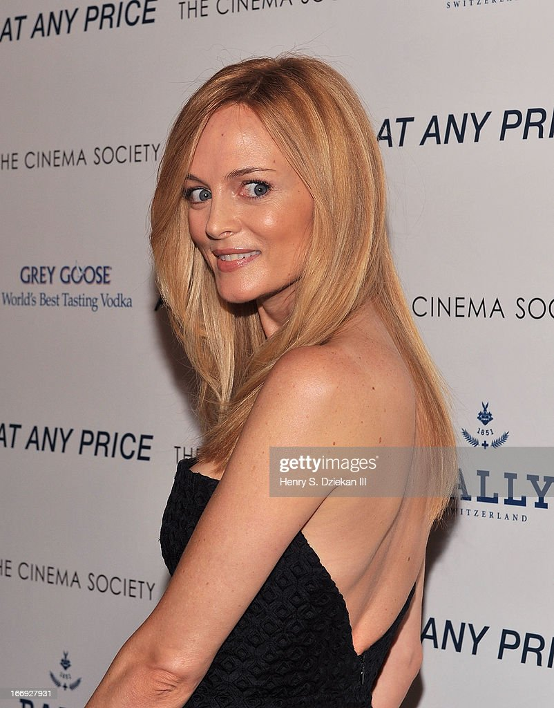 Actress Heather Graham attends the Cinema Society & Bally screening of Sony Pictures Classics' 'At Any Price' at Landmark's Sunshine Cinema on April 18, 2013 in New York City.