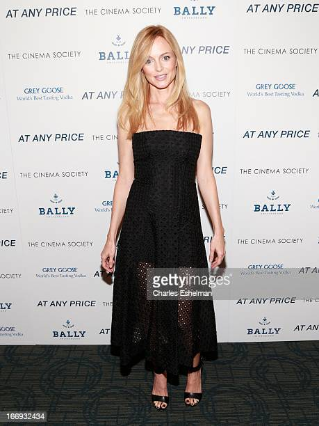 Actress Heather Graham attends The Cinema Society Bally screening of Sony Pictures Classics' 'At Any Price' at Landmark Sunshine Cinema on April 18...