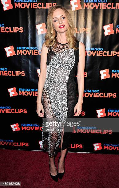 Actress Heather Graham attends the Fandango Movieclips ComicCon party during ComicCon International 2015 at Hilton Bayfront on July 9 2015 in San...