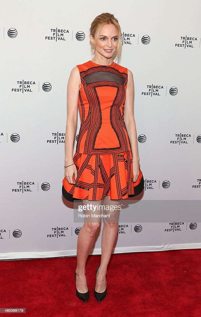 Actress <a gi-track='captionPersonalityLinkClicked' href=/galleries/search?phrase=Heather+Graham+-+Actress&family=editorial&specificpeople=204520 ng-click='$event.stopPropagation()'>Heather Graham</a> attends the 'Goodbye To All That' Premiere during the 2014 Tribeca Film Festival at the SVA Theater on April 17, 2014 in New York City.