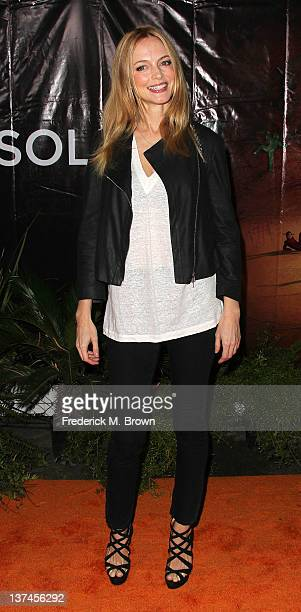 Actress Heather Graham attends the Opening Night Of Cirque du Soleil's 'OVO' at the Santa Monica Pier on January 20 2012 in Santa Monica California