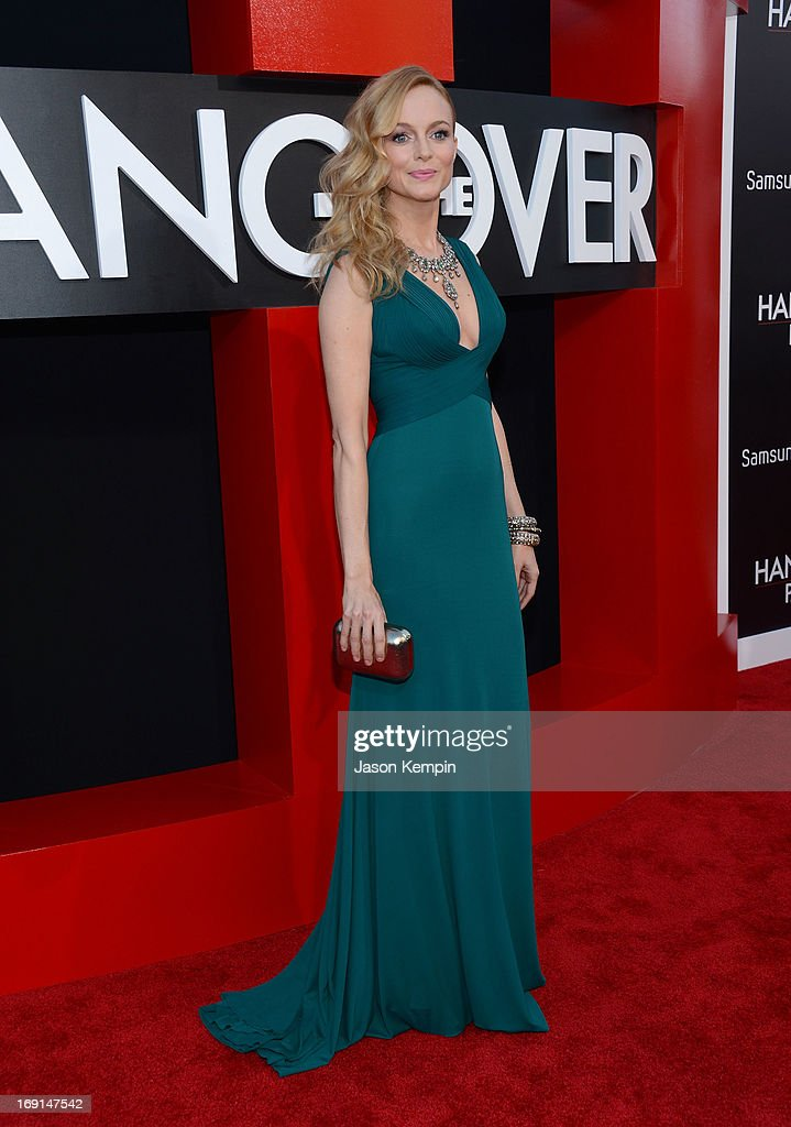 Actress Heather Graham attends the premiere of Warner Bros. Pictures' 'Hangover Part 3' on May 20, 2013 in Westwood, California.