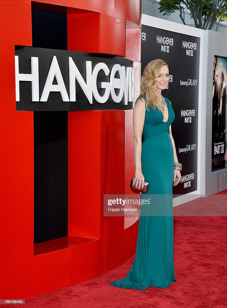 Actress Heather Graham attends the premiere of Warner Bros. Pictures' 'Hangover Part 3' at Westwood Village Theater on May 20, 2013 in Westwood, California.