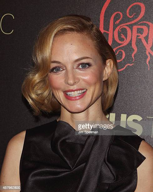 Actress Heather Graham attends the RADiUS TWC and The Cinema Society New York Premiere of 'Horns' at Landmark's Sunshine Cinema on October 27 2014 in...