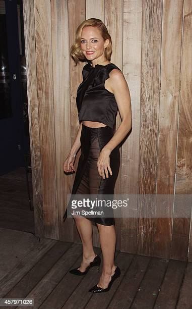 Actress Heather Graham attends the RADiUS TWC and The Cinema Society New York Premiere of 'Horns' after party at Jimmy At The James Hotel on October...
