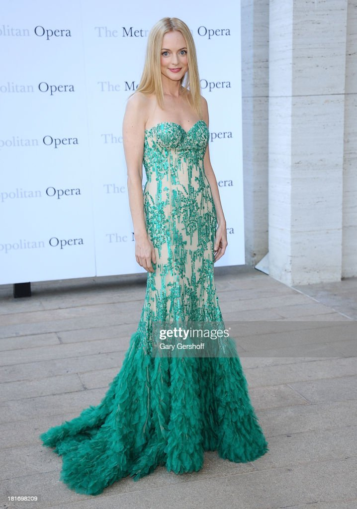 Actress Heather Graham attends the season opening performance of Tchaikovsky's 'Eugene Onegin' at The Metropolitan Opera House on September 23, 2013 in New York City.
