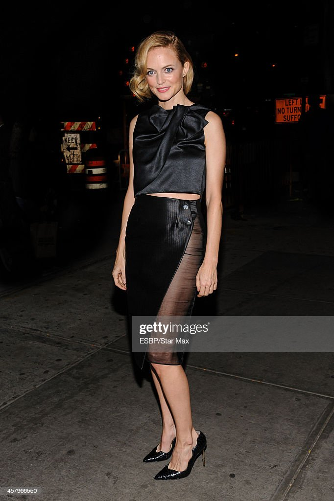 Actress Heather Graham is seen on October 27 2014 in New York City
