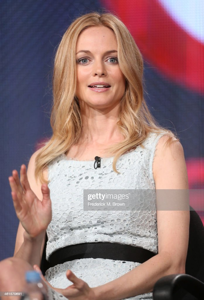 Actress Heather Graham speaks onstage during the 'Lifetime - Flowers in the Attic' panel discussion at the Lifetime/A&E Network' portion of the 2014 Winter Television Critics Association tour at the Langham Hotel on January 9, 2014 in Pasadena, California.