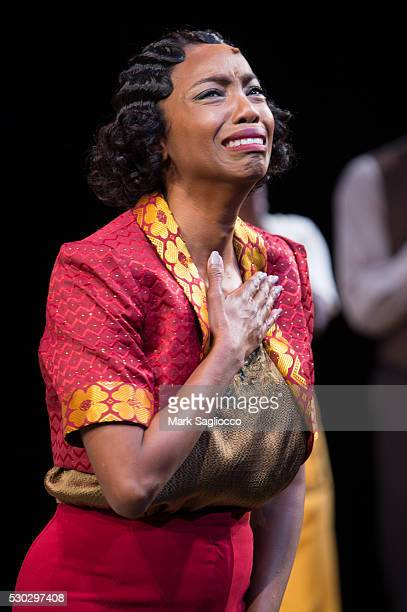 Actress Heather Headley attends 'The Color Purple' Curtain Call at The Bernard B Jacobs Theatre on May 10 2016 in New York City