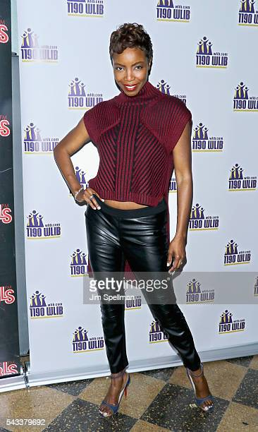 Actress Heather Headley attends the WBLS 1075 1190 WLIB celebrate black music month with Broadway's 'The Color Purple' on June 27 2016 in New York...