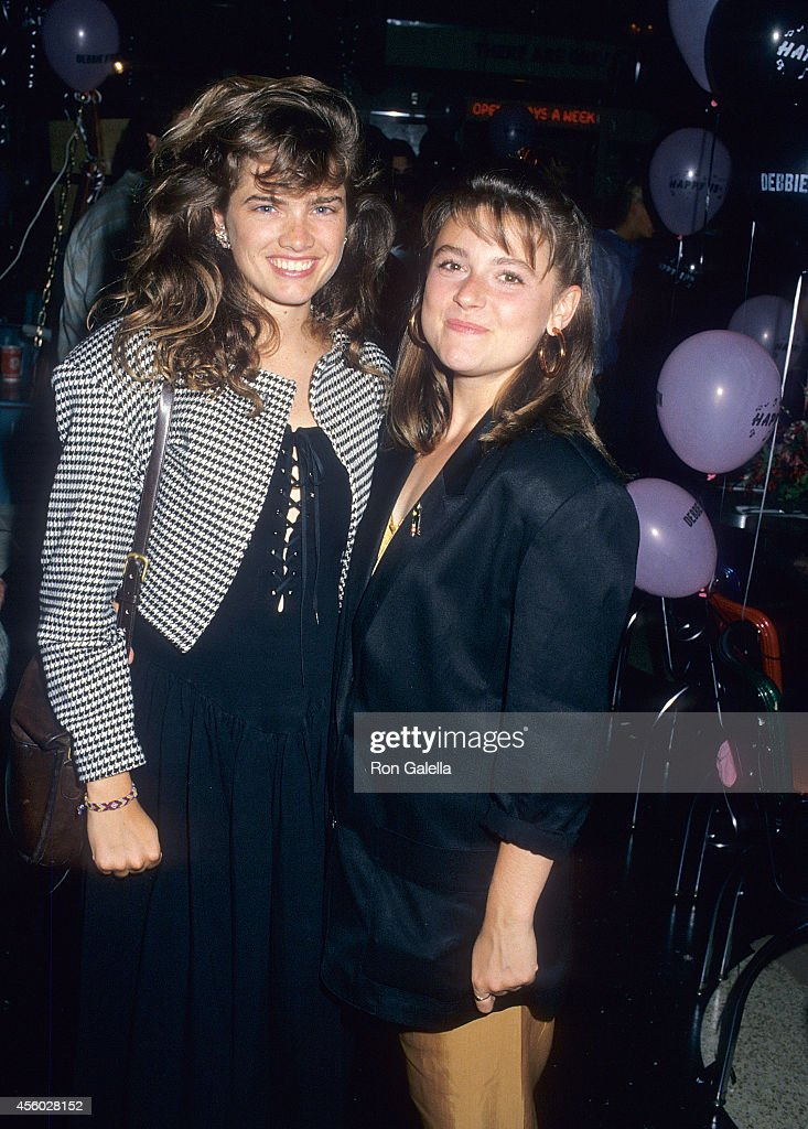 Actress Heather Langenkamp and actress JoAnn Willette attend Debbie Gibson's 18th Birthday Party on August 8 1988 at Ed Debevic's Short Order Deluxe...