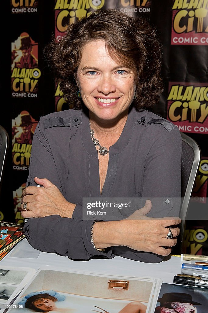 Actress Heather Langenkamp attends day one of the Alamo City Comic Con at the Henry B Gonzalez Convention Center on September 26 2014 in San Antonio...