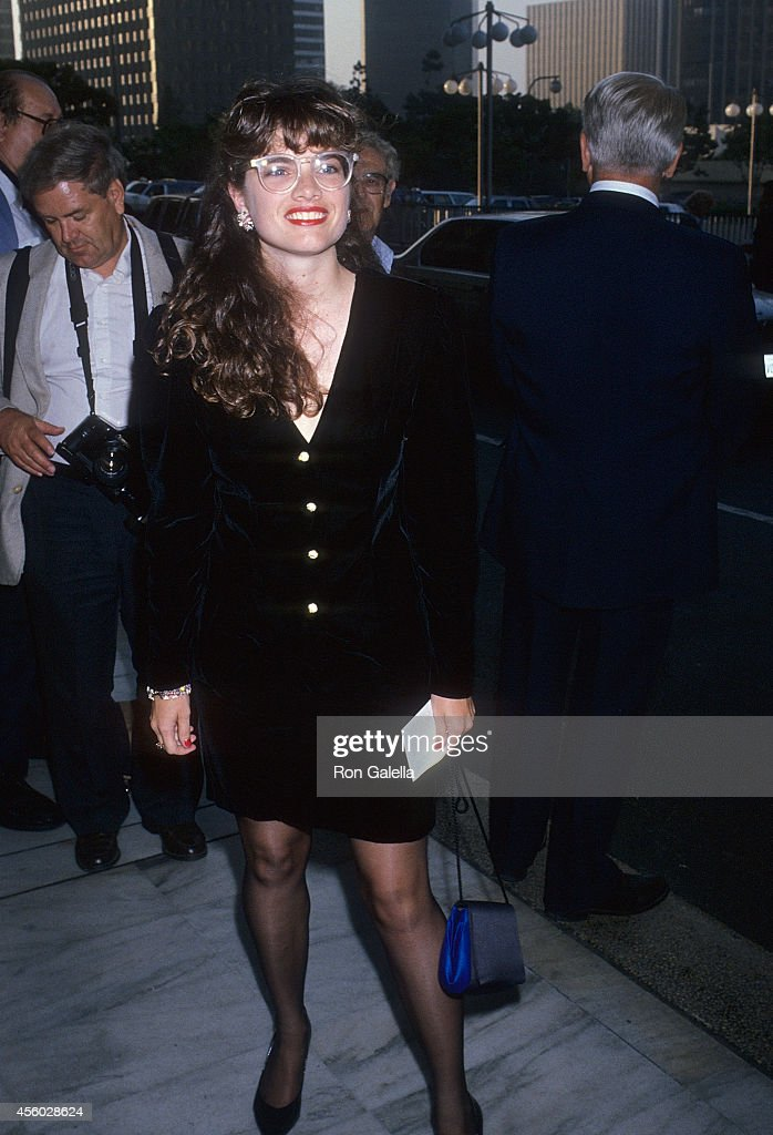 Actress Heather Langenkamp attends the ABC Television Affiliates Party on June 13 1989 at the Century Plaza Hotel in Century City California