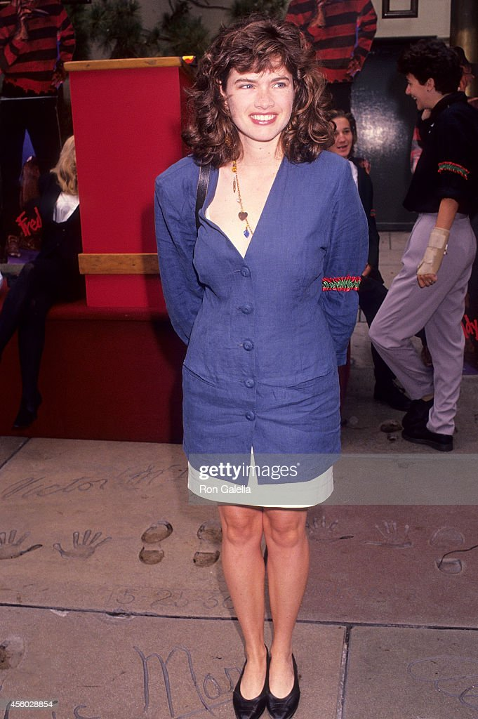 Actress Heather Langenkamp attends the 'Freddy's Dead The Final Nightmare' Hollywood Premiere on September 11 1991 at the Mann's Chinese Theatre in...