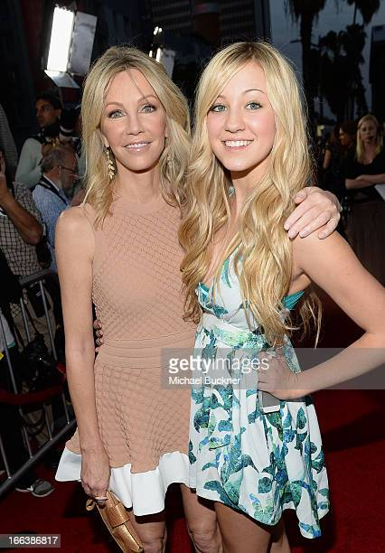 Actress Heather Locklear and daugher Ava Sambora arrive for the premiere of Dimension Films' 'Scary Movie 5' at ArcLight Cinemas Cinerama Dome on...