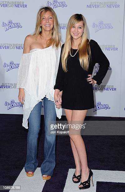 Actress Heather Locklear and daughter Ava Elizabeth Sambora arrive at the Los Angeles Premiere 'Justin Bieber Never Say Never' at Nokia Theatre LA...