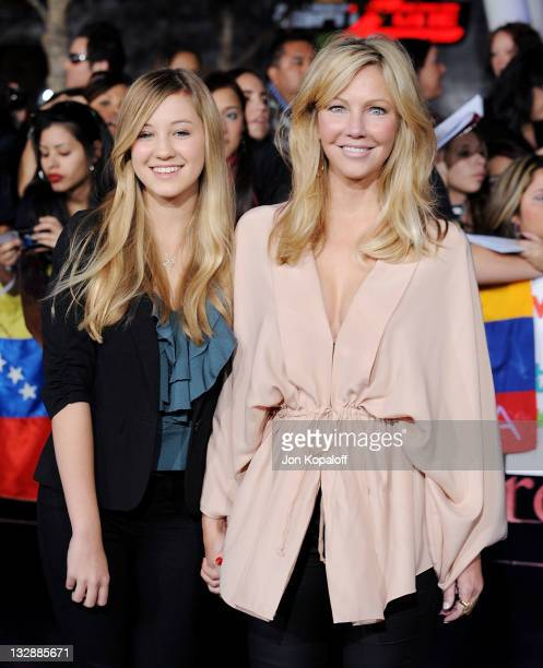 Actress Heather Locklear and daughter Ava Elizabeth Sambora arrive at the Los Angeles Premiere 'The Twilight Saga Breaking Dawn Part 1' at Nokia...