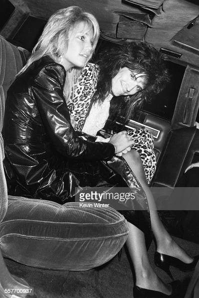 Actress Heather Locklear and her husband 'Motley Crue' musician Tommy Lee in the back of a car as they attend the MTV Music Awards at the Universal...