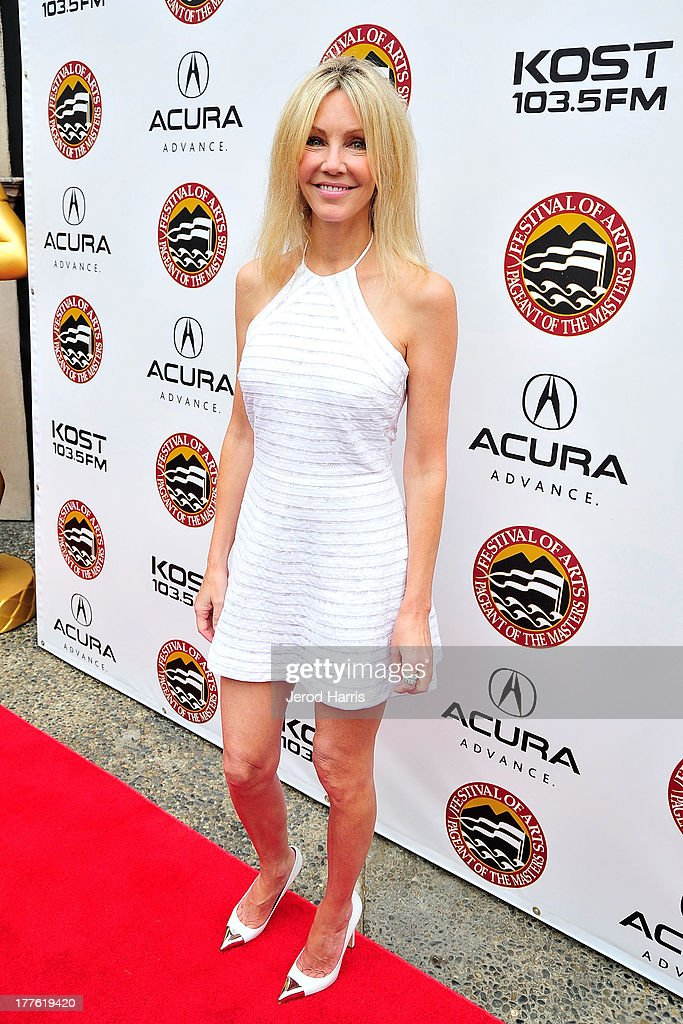 Actress <a gi-track='captionPersonalityLinkClicked' href=/galleries/search?phrase=Heather+Locklear&family=editorial&specificpeople=204224 ng-click='$event.stopPropagation()'>Heather Locklear</a> attends the Acura/KOST celebrity benefit concert and pageant on August 24, 2013 in Laguna Beach, California.