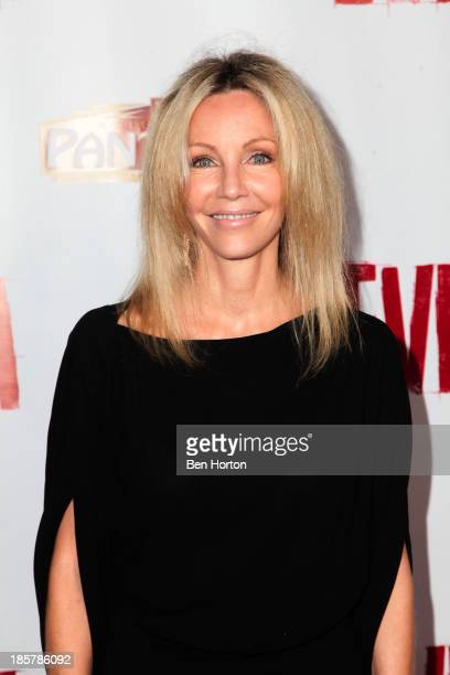Actress Heather Locklear attends the 'Evita' Los Angeles opening night at the Pantages Theatre on October 24 2013 in Hollywood California