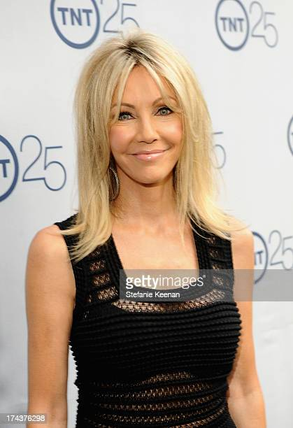 Actress Heather Locklear attends TNT 25TH Anniversary Party during Turner Broadcasting's 2013 TCA Summer Tour at The Beverly Hilton Hotel on July 24...