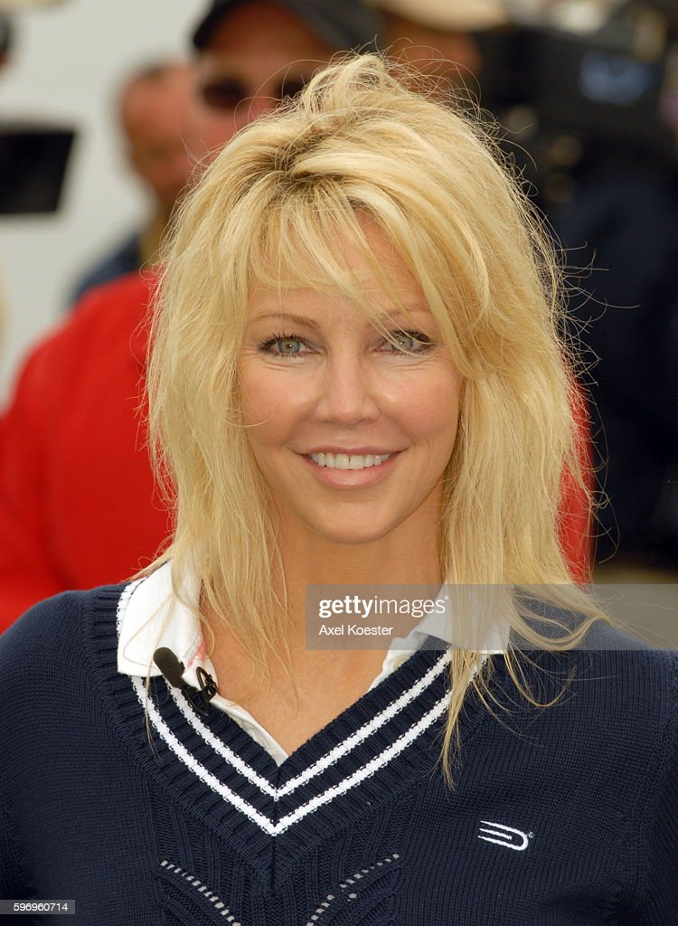 Actress Heather Locklear plays at the Ninth Annual Michael Douglas Friends Celebrity Golf Tournament at the Trump National Golf Club in Rancho Palos...