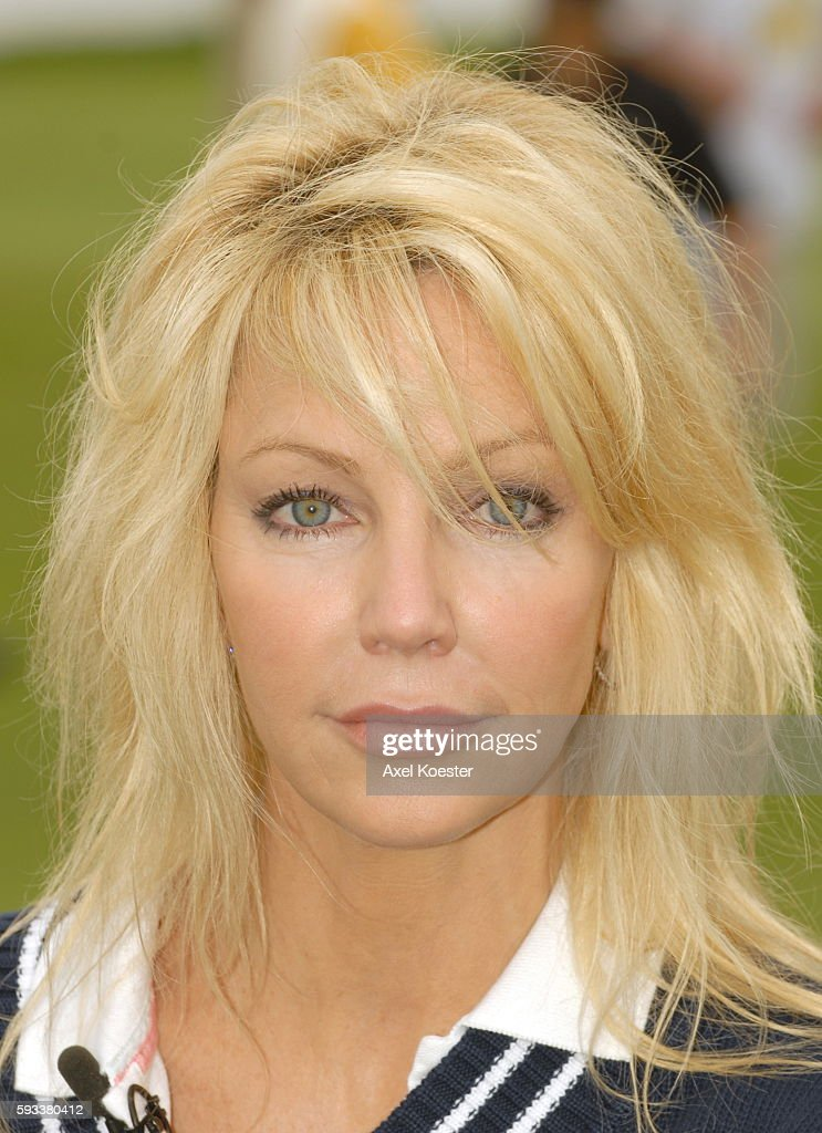 Actress Heather Locklear plays in the Ninth Annual Michael Douglas Friends Celebrity Golf Tournament at the Trump National Golf Club in Rancho Palos...