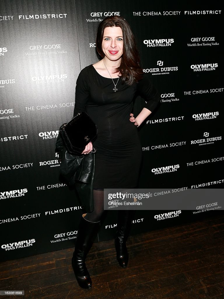 Actress Heather Matarazzo attends The Cinema Society with Roger Dubuis and Grey Goose screening of FilmDistrict's 'Olympus Has Fallen' at the Tribeca Grand Screening Room on March 11, 2013 in New York City.