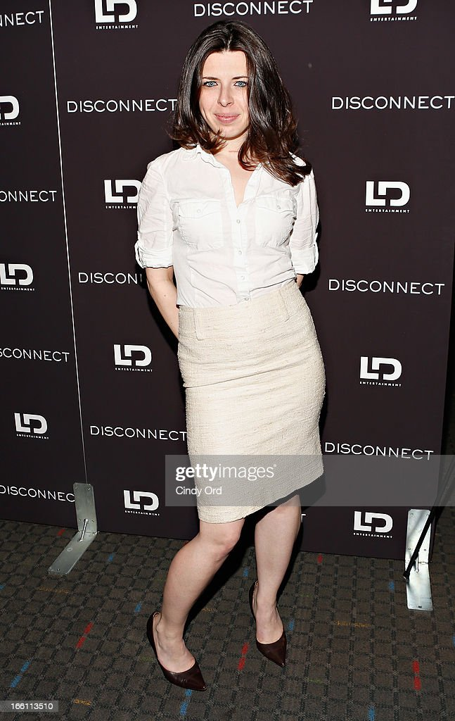 Actress Heather Matarazzo attends the 'Disconnect' New York Special Screening at SVA Theater on April 8 2013 in New York City