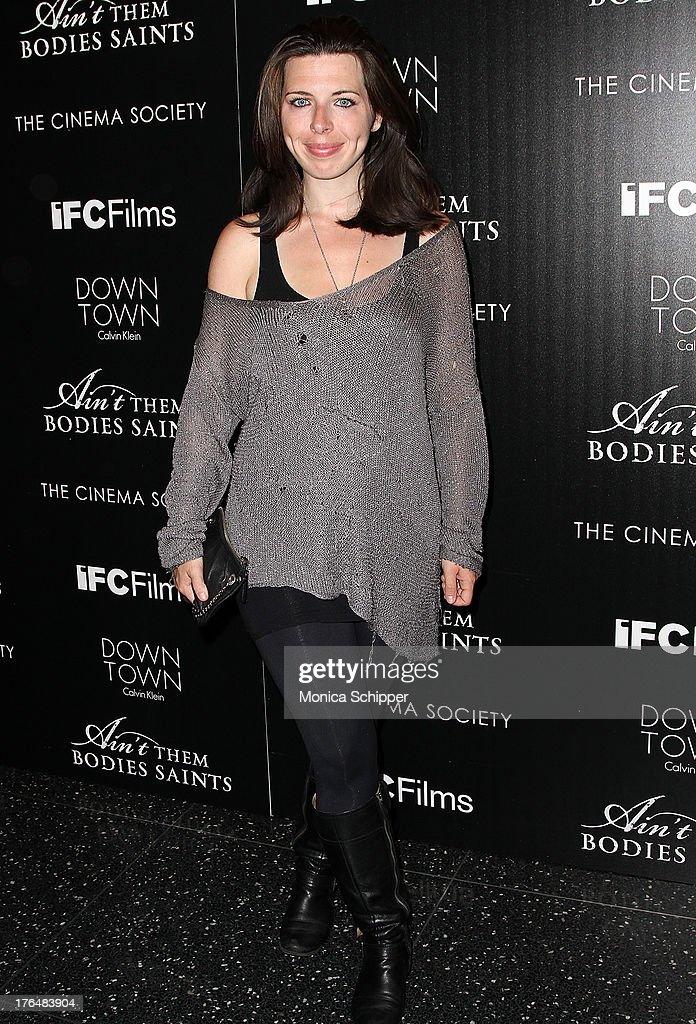 Actress <a gi-track='captionPersonalityLinkClicked' href=/galleries/search?phrase=Heather+Matarazzo&family=editorial&specificpeople=243217 ng-click='$event.stopPropagation()'>Heather Matarazzo</a> attends the Downtown Calvin Klein with The Cinema Society screening of IFC Films' 'Ain't Them Bodies Saints' at The Museum of Modern Art on August 13, 2013 in New York City.