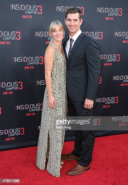 Actress Heather Morris and Taylor Hubbel attend the premiere of Focus Features' 'Insidious Chapter 3' at the TCL Chinese Theatre on June 4 2015 in...