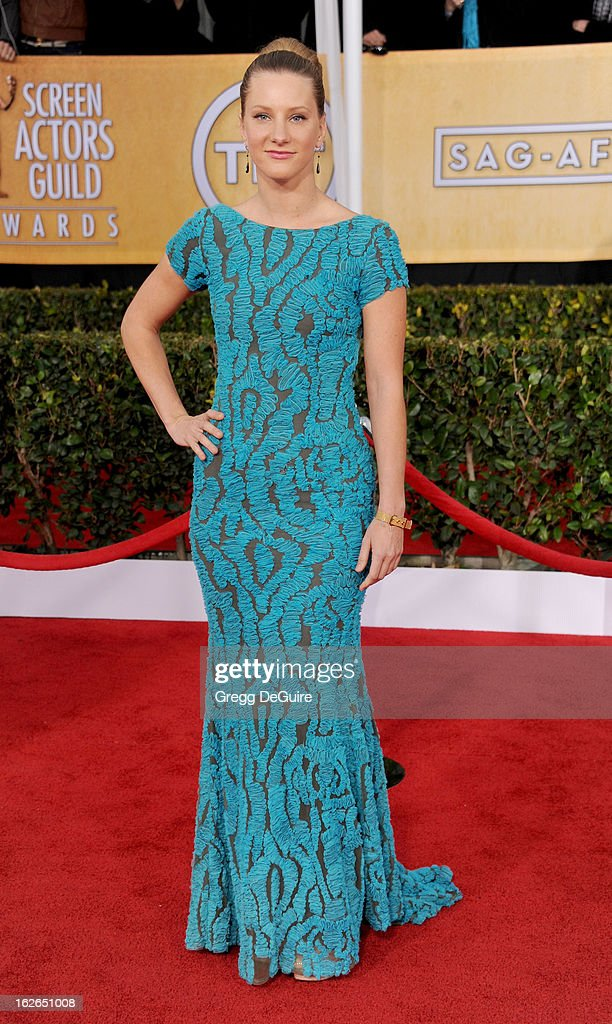 Actress Heather Morris arrives at the 19th Annual Screen Actors Guild Awards at The Shrine Auditorium on January 27, 2013 in Los Angeles, California.