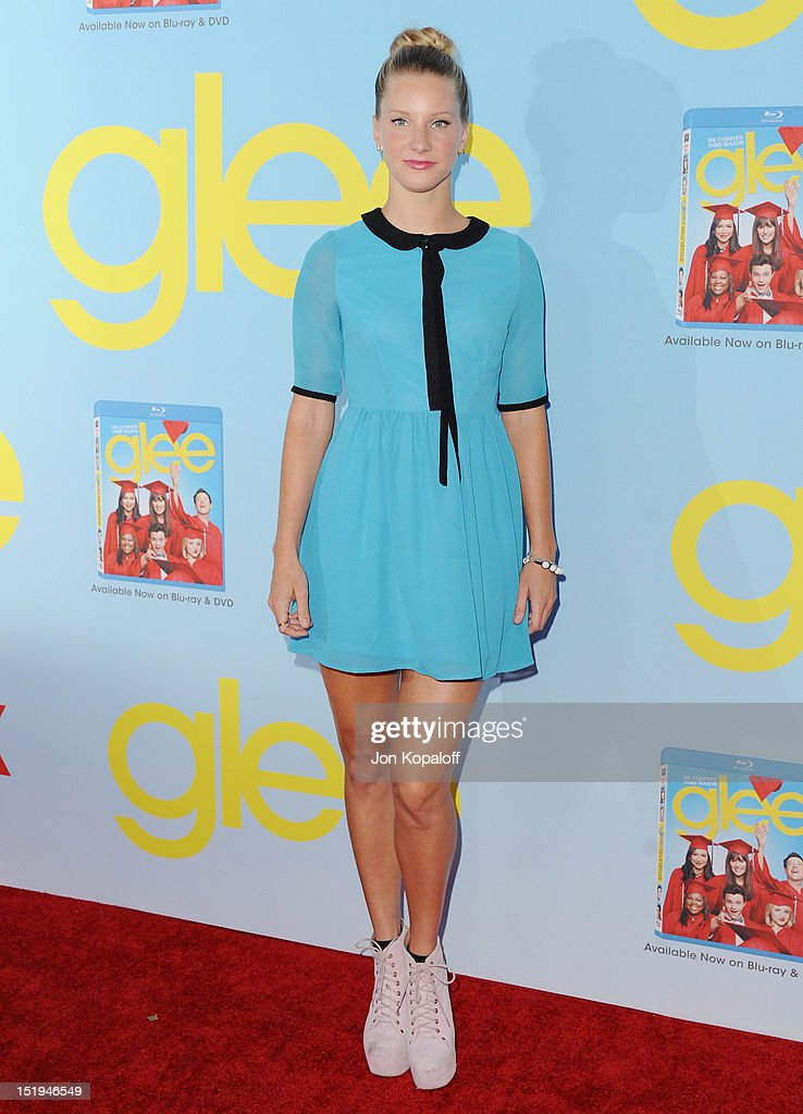 Actress Heather Morris arrives at the 'Glee' Premiere at Paramount Studios on September 12, 2012 in Los Angeles, California.