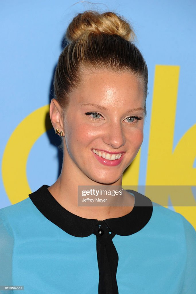 Actress Heather Morris arrives at the 'GLEE' Premiere Screening And Reception at Paramount Studios on September 12, 2012 in Hollywood, California.