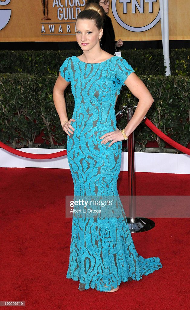 Actress Heather Morris arrives for the 19th Annual Screen Actors Guild Awards - Arrivals held at The Shrine Auditorium on January 27, 2013 in Los Angeles, California.