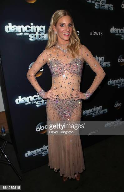 Actress Heather Morris attends 'Dancing with the Stars' Season 24 at CBS Televison City on April 3 2017 in Los Angeles California