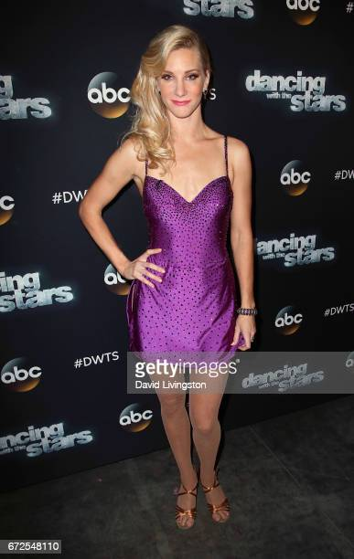 Actress Heather Morris attends 'Dancing with the Stars' Season 24 at CBS Televison City on April 24 2017 in Los Angeles California