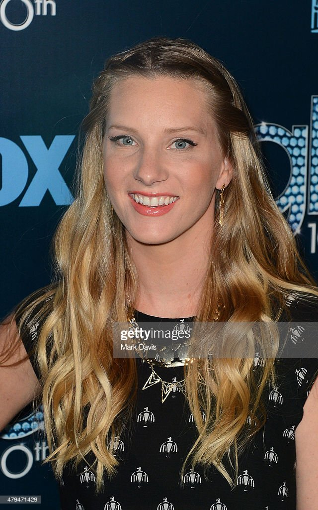 Actress <a gi-track='captionPersonalityLinkClicked' href=/galleries/search?phrase=Heather+Morris&family=editorial&specificpeople=5850948 ng-click='$event.stopPropagation()'>Heather Morris</a> attends Fox's 'GLEE' 100th Episode Celebration held at Chateau Marmont on March 18, 2014 in Los Angeles, California.