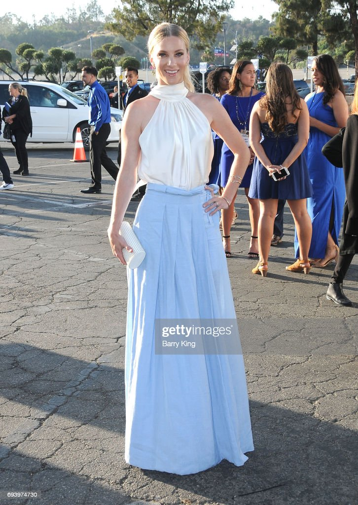 Actress Heather Morris attends Los Angeles Dodgers Foundation's 3rd Annual Blue Diamond Gala at Dodger Stadium on June 8, 2017 in Los Angeles, California.
