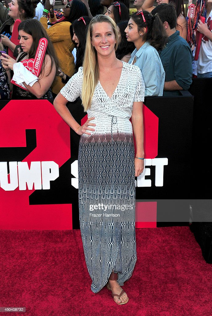 Actress Heather Morris attends the Premiere Of Columbia Pictures' '22 Jump Street' at Regency Village Theatre on June 10, 2014 in Westwood, California.